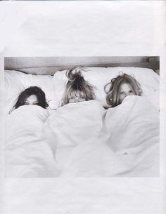 Lara Stone, Kate Moss and Daria Werbowy