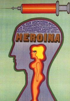 Heroina, 1969. Artwork by Andrzej Krajewski.