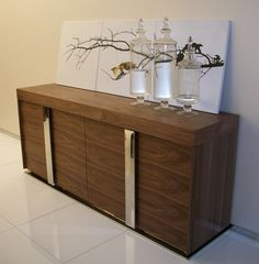 Modern Buffet, Wood Shelf, Sideboard, Miami, Room Ideas, Dining Room, Base, Shelves, Interiors