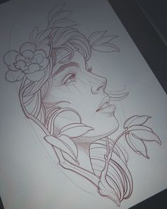 Pencil Art Drawings, Art Drawings Sketches, Tattoo Sketches, Tattoo Drawings, Tattoo Girls, Sketch Tattoo Design, Tattoo Designs, Voll Arm-tattoos, Hai Tattoos
