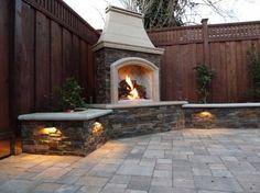 30 Ideas for Outdoor Fireplace and | http://bestoutdoorlivingrooms.blogspot.com