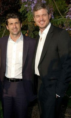 Patrick Dempsey & Eric Dane. This is why I LOVE Grey's Anatomy.