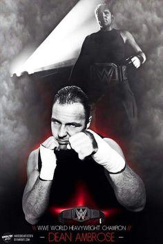 WWE Word Heavyweght Champion Dean Ambrose <3