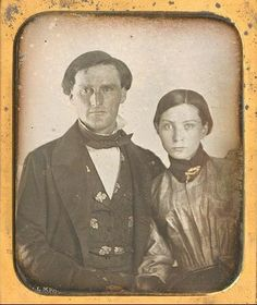 Naturally sidelighted in the 1850s, they have a very today, people-next-door look about them. Good faces!