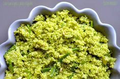 Cous-cous al pesto, patate e fagiolini- PESTO COUS COUS WITH BREEN BEANS AND POTATOES
