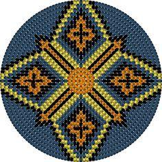 de bodem: geel blauw oranje zwart  ruit, heeft 168 steken kan gebruikt worden bij het  zijkant patroon  geel blauw oranje zwart ruit : in de laatste toer maar 5 meerderingen doen in plaats van 8 meerderingen