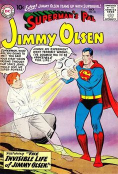 One man, invisible, with liberty and justice for all! Plus: Jimmy meets Supergirl (what will Lucy say?).