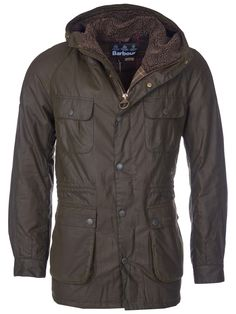 Barbour Brindle Wax Jacket, Fern