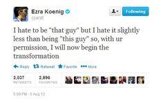 %name The Best Things Vampire Weekends Ezra Koenig Has Ever Tweeted
