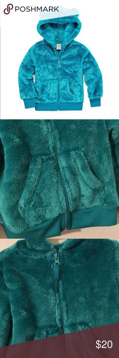 Girls Toddler Arizona Teddy Bear Hoody Brand: Arizona Size: 5T Color: Panama Teal Condition: New with tags Sleeve Length: Long Sleeve Neckline: Hooded Neck Collar: No Collar Number of Pockets: 2 Fabric Description: Knit Fabric Content: 100% Polyester Apparel Length: 18 Inches Closure Type: Zipper Pockets: Front Slip Pocket Arizona Jean Company Jackets & Coats