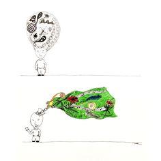 Dibujo en tinta - Veronica Reynal