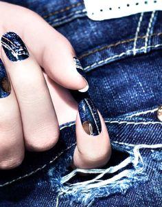 Denim Stitch  #nails