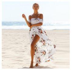 Cindee Lane Boho Vacation Beach Skirt Maxi Dress