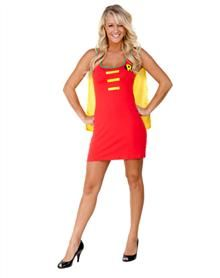 Batman Robin Caped Tank Dress Adult Womens Costume