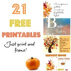 21 Free #printables for the month of #November
