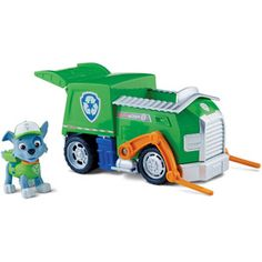 Paw Patrol – Rocky 's Recycling Truck PackageQuantity: 1 Style: Grün, Modell: Spielzeug & Play Paw Patrol Rocky, Paw Patrol Toys, Paw Patrol Party, Paw Patrol Birthday, Toys R Us, Toys For Boys, Kids Toys, Rocky Pat Patrouille, Personajes Paw Patrol