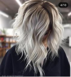 Ombre Hair Color, Hair Color Balayage, Blonde Color, Hair Colors, Blonde Highlights, Platinum Highlights, Honey Balayage, Silver Highlights, Blonde Balayage