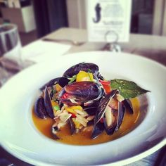 What a special at the Oyster Bar Steamed Bouchot Mussels: w/  sofrito & toasted orzo. $15.00