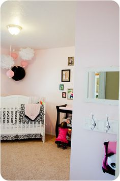 Pink and Black Nursery, via Real Housewives of Riverton