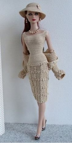 Boneca Barbie - Roupa De Crochê OMG HER OUTFIT! I just died