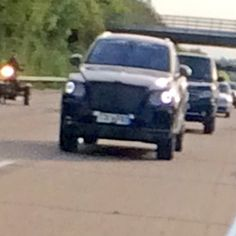 The new Bentley SUV on test around the M25.