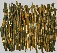 The Elements of Greek Grammar (wall book), wooden sticks by Alvey Jones