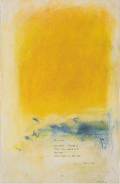 Joan Mitchel - Daylight, 1975 / poem by James Schuyler