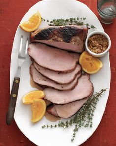 Put pork loin in an orange-thyme brine in the morning, and it's ready to grill when you get home.