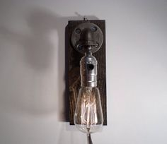 Classic Edison Industrial Steampunk Sconce In Weathered