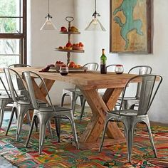 Popular since 1934 when it was first produced, the French Tolix chair has become a classic. Always a staple in France's bistros, now they seem to be everywhere, especially comfortable in an urban or industrial setting...