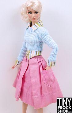 dbc391117bb Vintage Barbie Solid Skirt--Fashion Pak 1962 - Tiny Frock Shop Barbie Hair