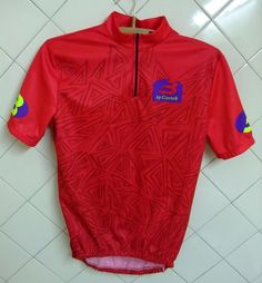 Maillot cycliste Castelli  Vintage Equipe Pro cycling Jersey - XL red polyester #Castelli