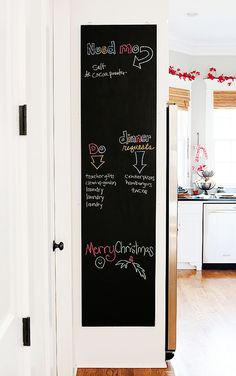 Fun weekend project! make-a-chalkboard. Great way to organize memos, school projects, activities and more!