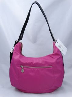 Just in! Brand new with tags Baggallini Pink Nylon Jessica Hobo Bag. Save up to 70% off retail at www.ShopKarma.com. High end pre owned designer bags, clothing, shoes and accessories. #karmacouture #shopkarma #upscaleresale #shopresale #consignment #designer #fashion #style #baggallini #handbags