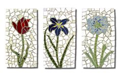 Flowers Wall Hanging Mosaics