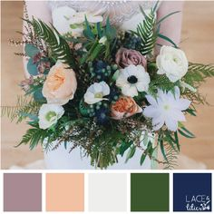 The Lace and Lilies Color Palette Series is a go to tool to help you have the visual confidence you need when choosing a color scheme for your wedding flowers!  We have paired some of our favorite bouquets with the exact colors that make them the show stoppers they are!  Happy planning!