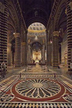 The Cathedral of Siena (Italian: Duomo di Siena), dedicated from its earliest days as a Roman Catholic Marian church and now to Santa Maria Assunta (Most Holy Mary of Assumption), is a medieval church in Siena, central Italy.