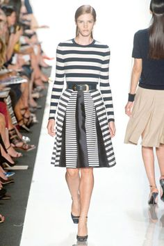 Michael Kors Stripes Trend - Runway Spring Fashion Trends 2013 - Harper's BAZAAR