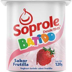 Yoghurt Soprole batido frutilla, 120 g - telemercados