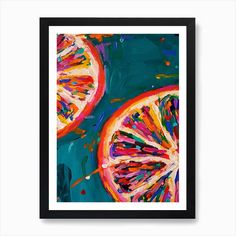 Pink Grapefruit Art Print by Dawn Underwood - Fy