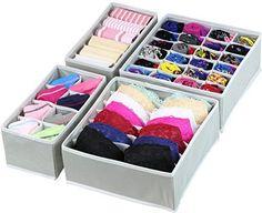 SimpleHouseware Closet Underwear Organizer Drawer Divider...