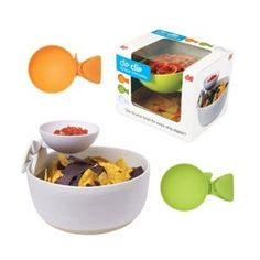 Clip-On Chip and Dip Bowls - Pretty genius!