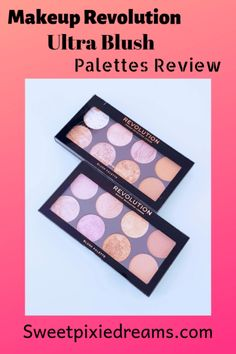 Makeup Revolution Ultra Bulsh Palettes review. Stunning Marble, baked shades in a small, lightweight packaging. Check out the review now!