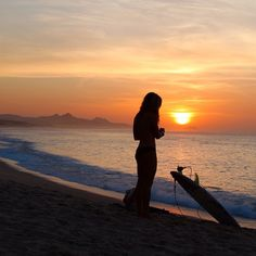 Surf girl... sunset...