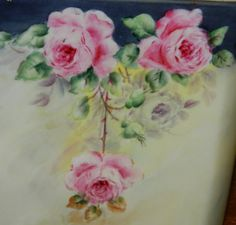 1913 Porcelain Box Roses Kleenix Box Signed by by TheIDconnection, $95.00