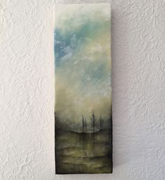 """grounded in Change"" 8x24"" encaustic artwork"