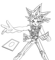 Yu Gi Oh Cards Cast Coloring Page For Kids