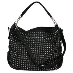 c96afcfc0d Blue Elegance Crystal Studded Quilted Handbag Designer Handbags On Sale