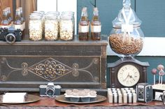Vintage masculine dessert table - perfect for the industrial feel
