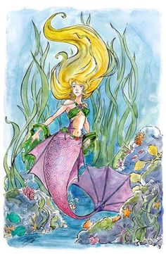 Mermaid Art Print by Amelia Davis